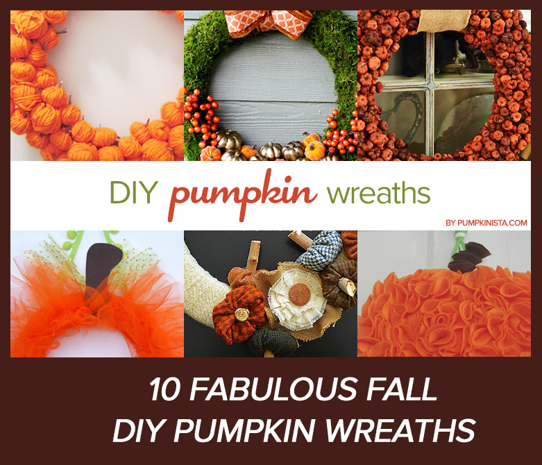 10 DIY Pumpkin Wreaths